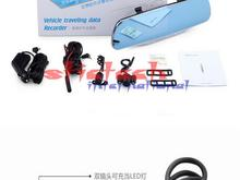 by dhl or ems 10pcs New Hot HD 4.3 1080p Dual Lens Video Recorder Dash Cam Rearview Mirror Car Camera DVR  hot sale