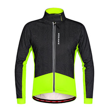 WOSAWE Winter Thermal Fleece Windproof Long Sleeve Cycling Jersey Clothing Wear Reflective Cycling Jackets