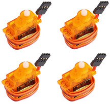 4 Pcs MRC High Precision Speed Mini Micro Servo SG90 9g For RC Airplane Helicopter 450 Plateau Cyclic Servo