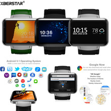 "2.2"" Large Screen Android 5.1 Dual Core Camera WIFI 3G SIM GPS Music video call Smart Watch"