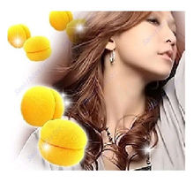 6 pcs/lot Yellow Balls Soft Sponge Hair Care Curler Rollers