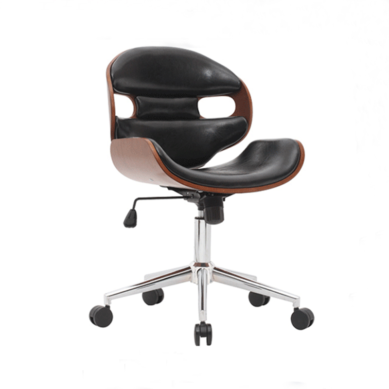PU Leather Gas Lift Height Adjusted Swivel Leisure Office Chair title=