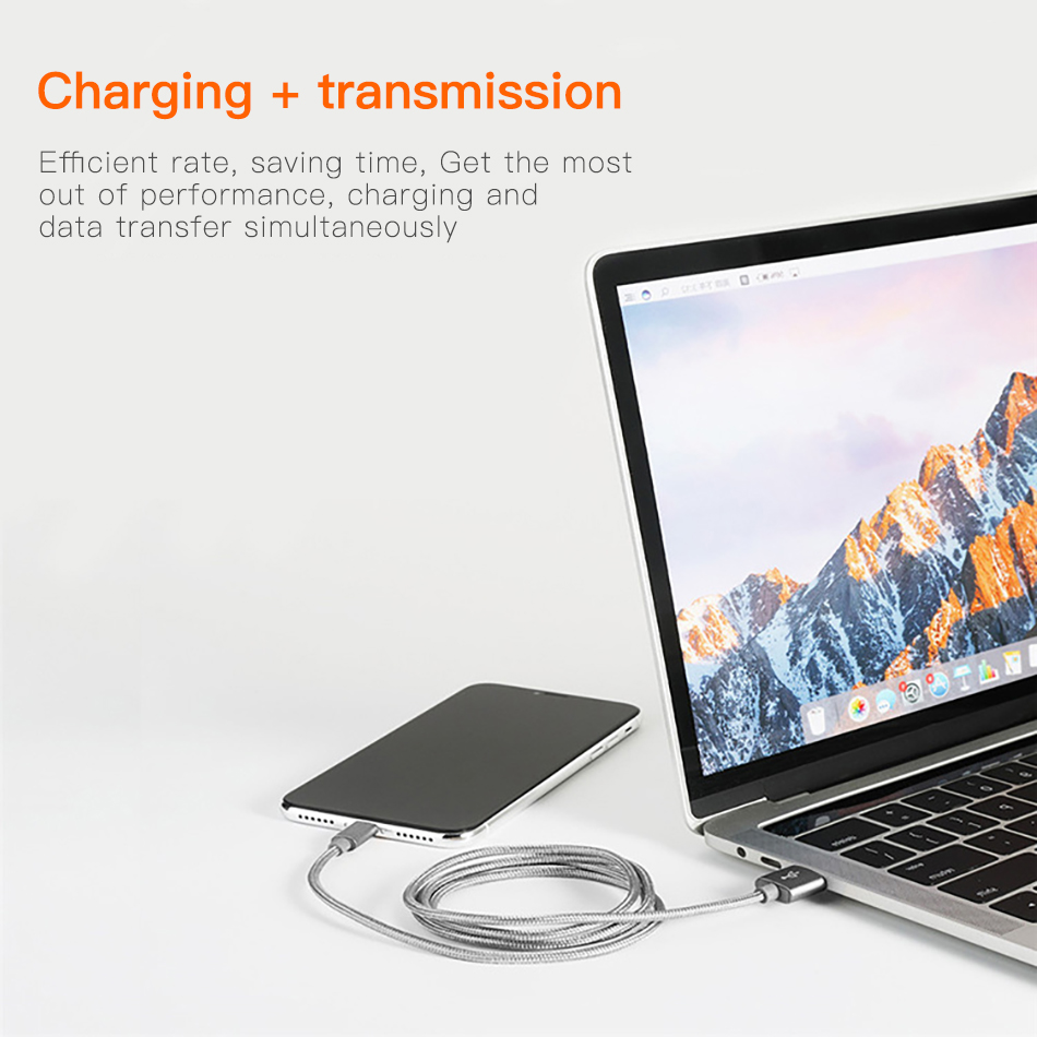 !ACCEZZ Nylon USB Charger Cable 2A For iPhone XR XS Max 7 8 6 6S 5S Ipad Mini Lighting Mobile Phone Data Fast Charge Cables Cord (9)