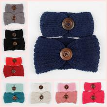 Cool! New fashion design 2PC Hairbands Family Knit Headband Crochet Mother And Hair Band Headwrap #ZJ(China)