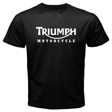 New TRIUMPH MOTORCYCLE Classic Logo Race Men's Tee Black T-Shirt Size S to 3XL(China)