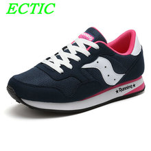 Women Walking Shoes Lighted Blue Air Mesh Breathable Weight Light Shoes Outdoor Sports Sneakers Unique Design Folding Shoes