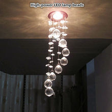 New Simple fashion High-power LED lamp k9 crystal Pendant Lights bedroom living room dining Aisle Ceiling lamp luster 85v-260v(China)