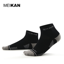 MEIKAN Mountain Climbing Functional Sports Socks Cotton Terry Brand Couple Colorful Running Sox Men Coolmax Hiking Socks(China)