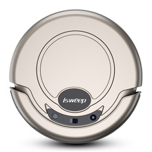 Robot Vacuum Cleaner with Strong Suction and Remote Control, Super Quiet Design for Thin Carpet and Hard Floors(China)