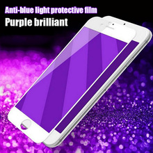 Anti-Blue Light Anti-fingerprint 9H Scratch Proof Tempered Glass Film for Iphone 6 6s 6plus 7 7plus Full Cover Support 3D Touch