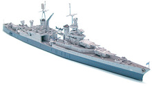 1/700 Proportion Assembly model Warship  The United States in World War II Indiana Indianapolis cruiser