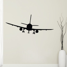 Commercial Airplane Wall Decals Vinyl Self Adhesive Home Decor Wall Stickers for Kids Rooms(China)