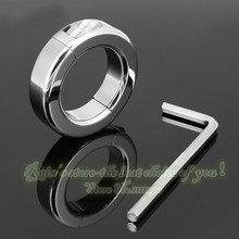 Penis cock ring chastity for men sleeve male chastity sex toy products 37mm 150g adult unique dick stainless steel metal(China)
