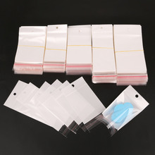 100pcs 5 Size White/Clear Self Seal Zipper Plastic Retail Packaging Poly Bag Ziplock Zip lock Storage Bag Package Hang Hole(China)