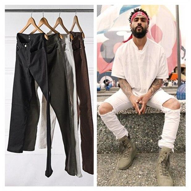 New Mens Designer Clothes Factory Connection Clothing Fog Justin Bieber Skinny Ankle White/Brown/Green/Black Zipper Jeans 30-36Одежда и ак�е��уары<br><br><br>Aliexpress