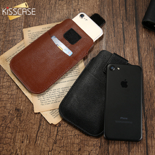 Buy KISSCASE Luxury Leather Waist Phone Bag iPhone 8 8 Plus Case Vintage Mobile Phone Pocket Cases iPhone 7 7 Plus Capinhas for $2.99 in AliExpress store