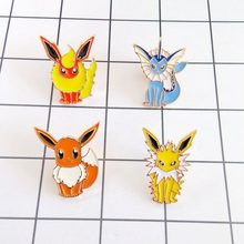 Free Shipping Cartoon Cute Anime Pokemon Brooch Pins Button Pins Jeans Clothes Decoration fashion jewelry Girl Gift Wholesale