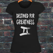 T Shirts Clothing Wholesale Gemini Destined For Greatness Zodiac Horoscope Womens Black T-shirt