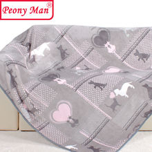 High Quality Flannel Blanket Peony Man Adult Winter Autumn Thick Warm Cat and Dog Super Soft Coral Fleece Blankets On The Bed(China)