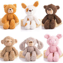 Plush Toys Teddy Bear Monkey Pig Stuffed Animal Soft Toys 30cm Baby Doll Kids Gifts Stuffed Animals