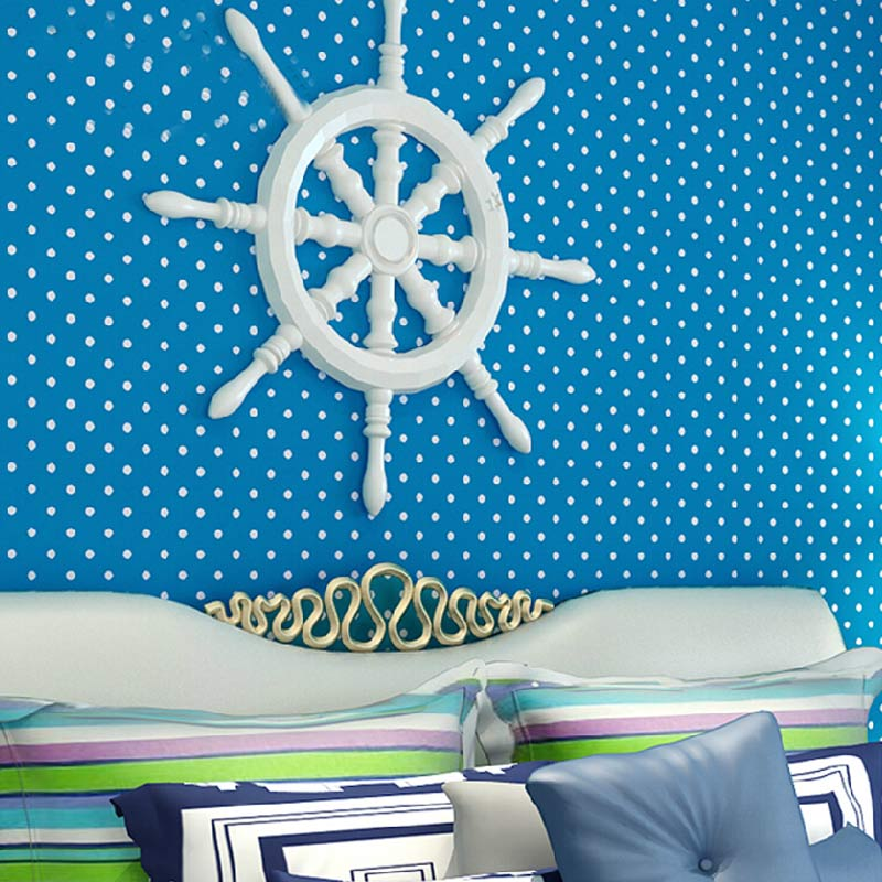 Modern Simple Small Polka Dots Non-woven Wallpaper For Kids Room Bedroom Wallpapers For Living Room Wallpaper Mural De Parede<br>