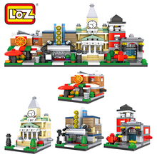 LOZ Diamond Blocks Street Shop Building Blocks Mini Store Block Toys Auction Bricks Christmas Gift Figures Toys