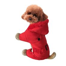 1 pcs Pet Dog Cat Costume Warm Autumn Winter Coat Jacket Jumpsuit Clothes Four Leg Down For Dogs