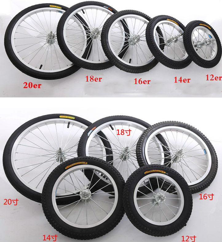 """Alloy Rim /& SCREW ON Steel Hub Folding Bike Wheel 16/"""" REAR Kids"""