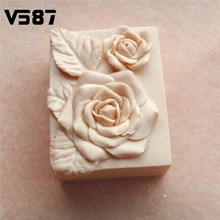 Cake Mold Silicone 3D Rose Flower Pattern Pink Soap DIY Crafts Handmade Soap Making Tool Supplies Gift Bareware Tool