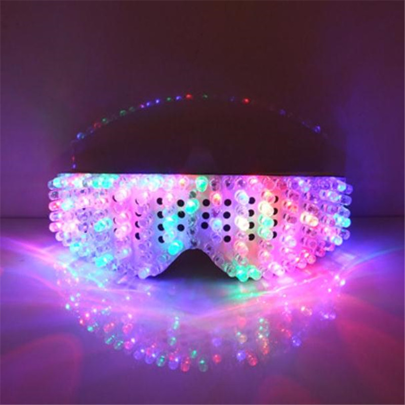 New Product Led Glasses Luminous White Lighting Halloween Glasses For Parties Event Party Supplies Free Shipping05