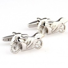 Racing Motorcycle Cufflink 1 Pair Retail Free Shipping Promotion