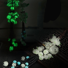 Buy Luminous Gourd Car Pendant Auto Rear View Mirror Glow Gourd Brave Troops Turquoise Crystal Decoration Ornaments Car Styling for $8.25 in AliExpress store