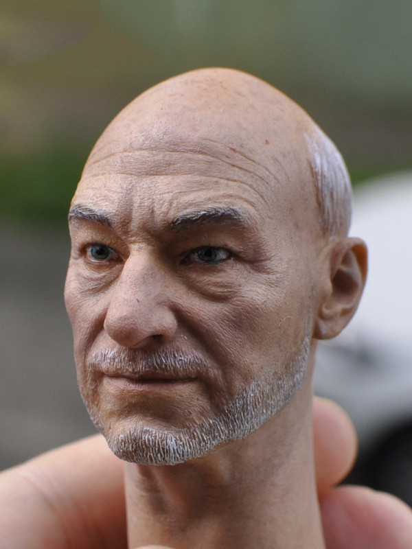 1/6 male Head Sculpt  for 12 Action Figure body  soldier head model toy Senior X Professor Charles X-Men Wolverine 3<br>