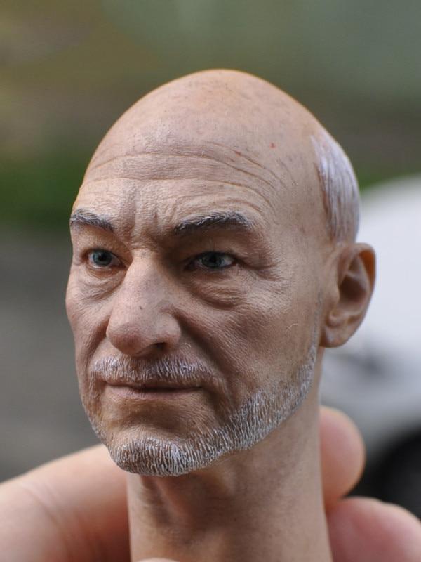 1/6 male Head Sculpt  for 12 Action Figure body  soldier head model toy Senior X Professor Charles X-Men Wolverine 3<br>
