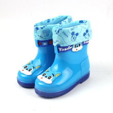 Kids Rubber Waterproof Non Slip Rain Ankle Boots Girls Boys Designer Children Shoes Brand Winter Boots Cute Cartoon Baby/Toddler
