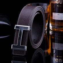 Famous Brand PU leather belt men's fashion casual belt smooth buckle Waistband trend men high quality belts