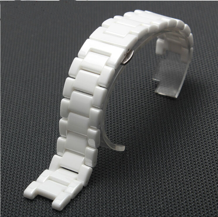 Watch accessories diamond white ceramic watchband watch general 18mm 20mm<br>