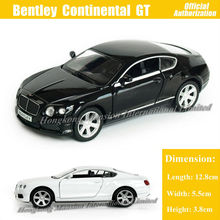 1:36 Scale Diecast Alloy Metal Car Model For Bentley Continental GT V8 Collection Model Pull Back Toys Car -Black/White/Red/Blue