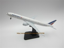 19cm Alloy Plane Model Airfrance Air France Airlines B777-300ER Aircraft Boeing 777 Airways Airplane Model w Stand Wheels