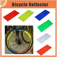 8pcs/pack Reflective Stickers Motorcycle Bicycle Reflector Bike Cycling Security Wheel Rim Decal Tape Safer velo(China)