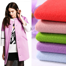 Direct manufacturers of semi worsted wool / polyester plain. It Phoenix honeycomb cushion dress fabric spot wholesale