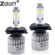 Zdatt 2Pcs Super Bright H4 Led Bulb 72W 8000LM Auto Headlights H1 H7 H11 HB3 HB4 Car LED Lights 12V Hi Lo Beam Automobiles
