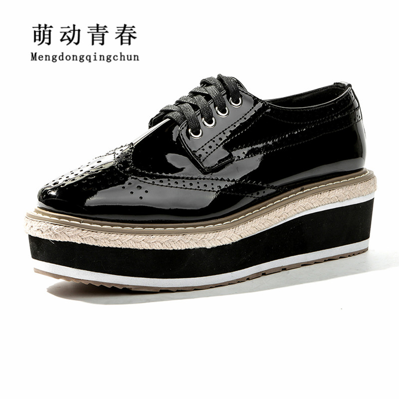 New Women Flats Gladiator Casual Round Toe Flats Shoes Women Fashion Lace Up Flat Platform Cross Tied Flats Shoes<br>