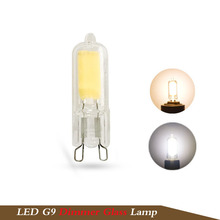 1X mini G9 led bulb Dimming led G9 220v 5W COB SMD Glass body light warm white cold white replace Halogen Spotlight Chandelier(China)