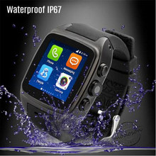 "X02 smart watch MTK 6572 Dual core 1.54"" screen 512MB Ram 4GB Rom sim card Android 4.4 Bluetooth 3G WIFI Camera GPS PK ZGPAX S8"