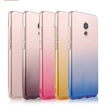 For Meilan 5 Case Meizu M5 mini / Meizu M5 Note / M5s cover Soft TPU transparent Gradient Mobile Phone Cases Back Cover Skin