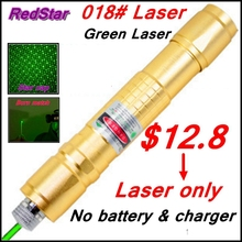 [ReadStar]RedStar 018 high 1W burn green laser pointer Laser pen starry cap Golden style laser only without battery and charger(China)