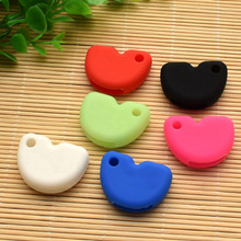 Motorcycle key silicone cover cap for Vespa piaggio new fly gts super 300 Gilera Nexus 500 shell skin protector keychain