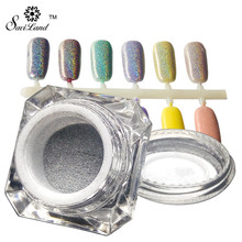 1 Box Holographic Laser Powder Nail Glitter Rainbow Pigment Manicure Chrome Pigments Nail Art Sequins Nail ManicureTools