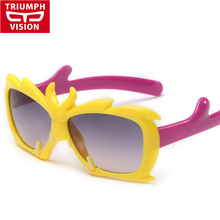 TRIUMPH VISION Children Butterfly Sun Glasses Kids Fashion Cute Baby Sunglasses Eyewear Girl Goggle UV400 Oculos infantil 2016